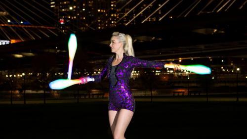 LED Juggler Boston